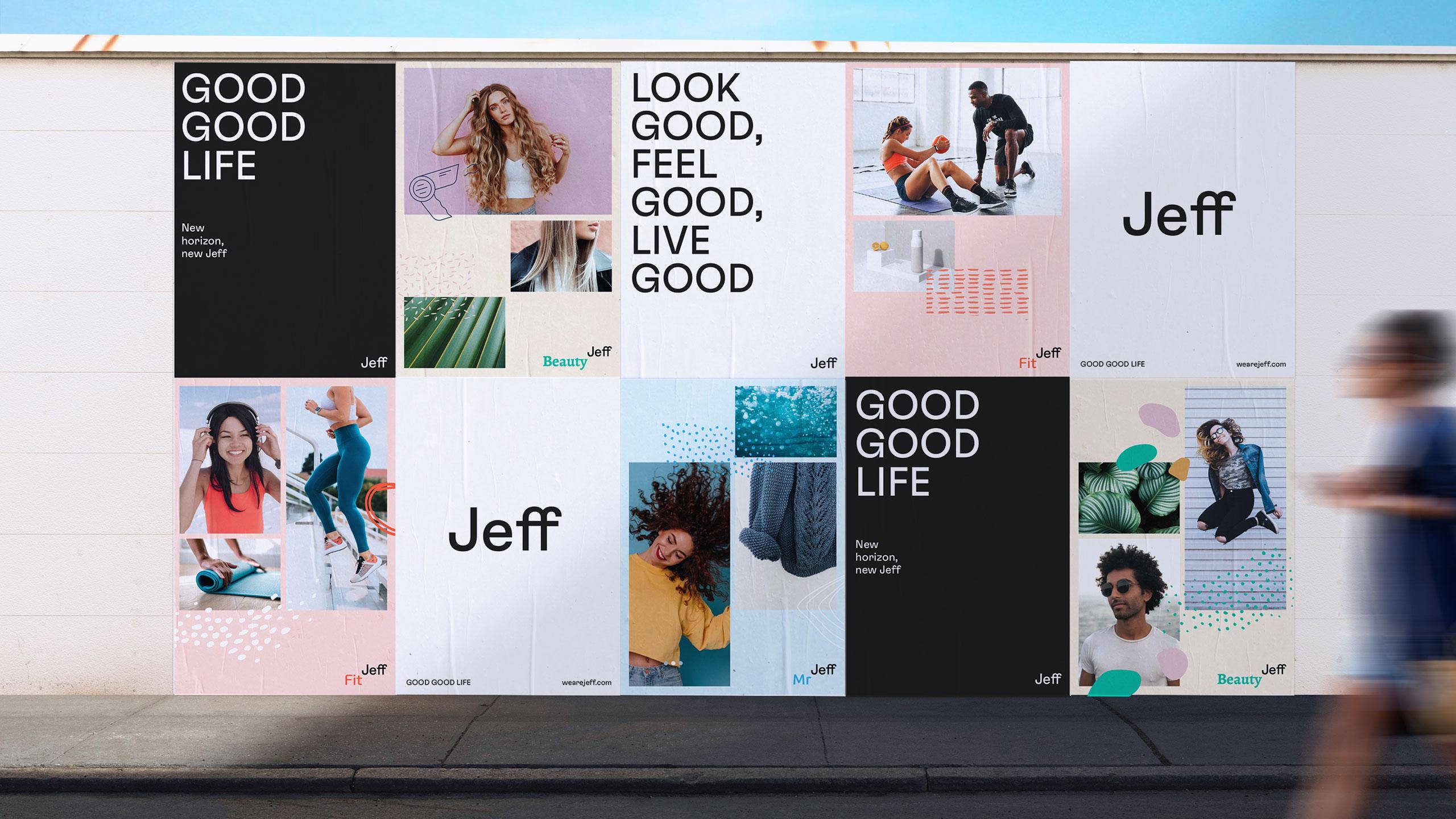 Carteles nuevo logo Jeff